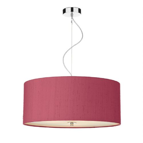 Renoir 60CM 3 Light Pendant with Silk Shade (Choose colour) REN17 (Hand made, 10-14 day Del)